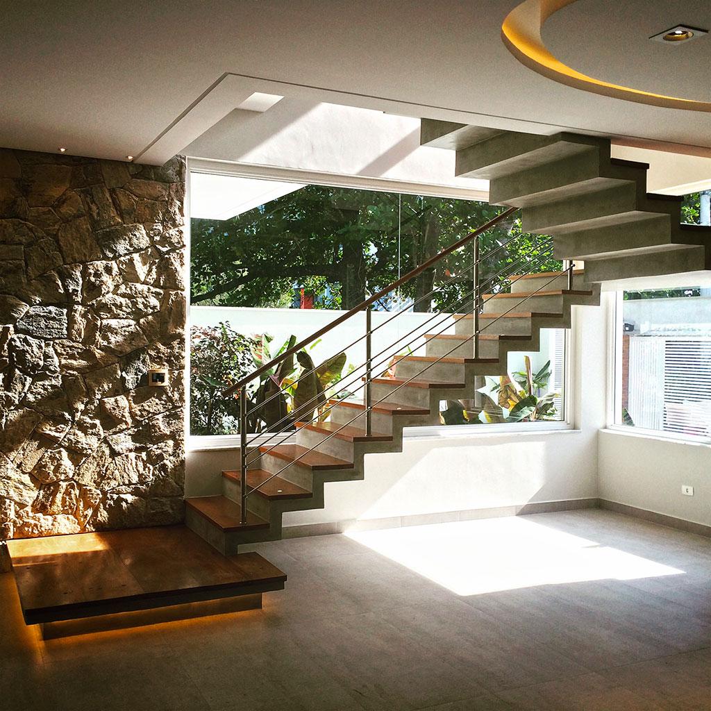 Arquiteto Silvio Coelho Projeto casa AC Escada